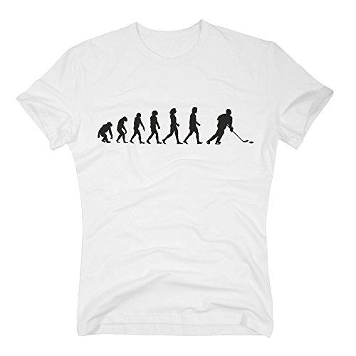 Herren T-Shirt - Eishockey Evolution - von SHIRT DEPARTMENT weiss-schwarz