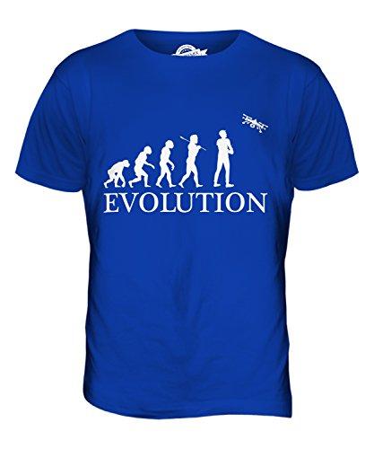 CandyMix Luftaufnahmen Drohne Kamera Luftbildfotografie Evolution Des Menschen Herren T Shirt Königsblau