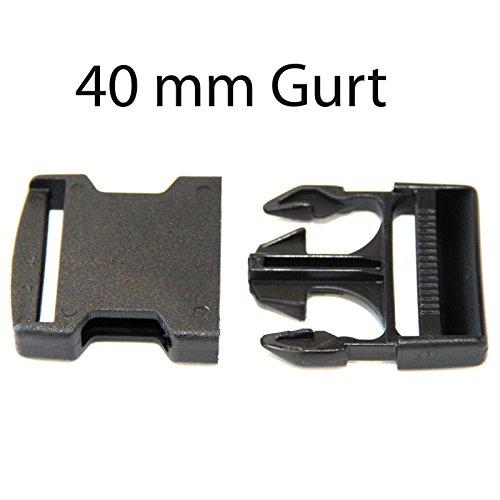 Steckschnalle schwarz für 40 mm Gurtband