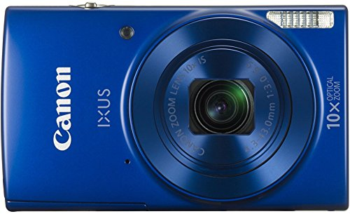 Canon IXUS 190 Digitalkamera (20 MP, 10x optischer Zoom, 6,8cm (2,7 Zoll) LCD Display, WLAN, NFC, HD Movies) blau (Canon 18-megapixel-kamera)