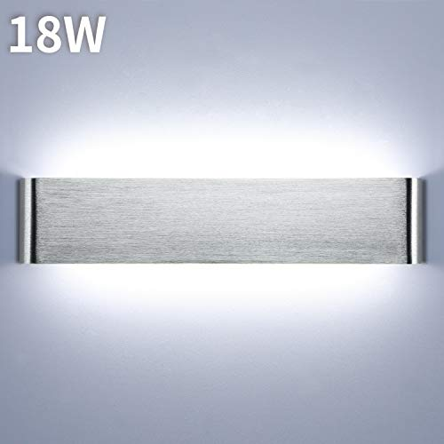 Lightess 18W 40CM Apliques de Pared LED Interior Lámpara de Pared Moderna Luz de Aluminio Acrílico...