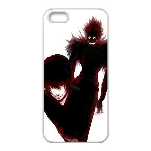 Death Note coque iPhone 5 5S Housse Blanc téléphone portable couverture de cas coque EBDXJKNBO11681