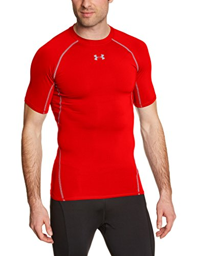 Under Armour - Camiseta interior deportiva para hombre, color rojo, talla XL