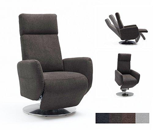 Cavadore TV-Sessel Cobra mit 2 E-Motoren und Aufstehhilfe / Elektrisch verstellbarer Fernsehsessel mit Fernbedienung / Relaxfunktion, Liegefunktion / Ergonomie L / Belastbar bis 130 kg / 71 x 112 x 82 / grau