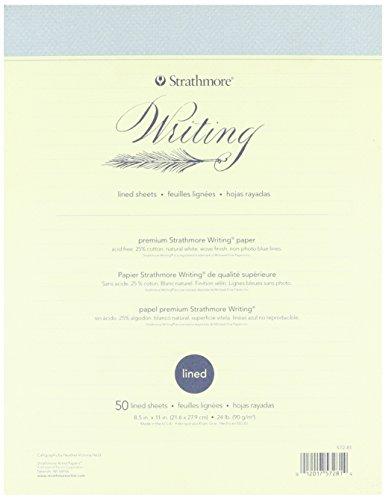 Pro-Art Strathmore Carta Rigata Per Scrittura, 8.5X11, 50 Fogli, 24Lb, Bianco Naturale