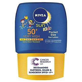 Nivea sun – Kidsloción solar de bolsillo para niños, factor de protección solar 50-50 ml