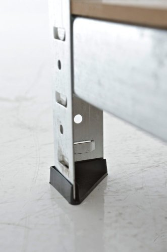 CLP Schwerlastregal, Metall, verzinkt, Tragkraft 875 kg, 5 Böden, Lagerregal Farbe + Höhe wählbar silber, 180 x 90 x 40 cm - 7