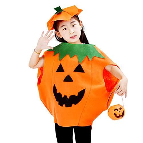 D.ragon Kinderkürbis Kostüm, Halloween Cosplay Kostüm Kürbis Make-up Kostüm Erwachsene/Kind Kürbis Kleid Kürbis Hut (Kürbis Kostüm Für Erwachsene)