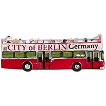 Deutschland Souvenirs Spezialmagnet Doppeldecker Bus, rot