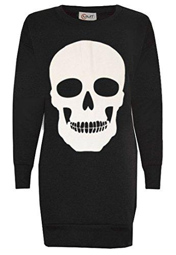 Women's Ladies Skull Print Halloween Long Sweatshirt Jumper Pullover