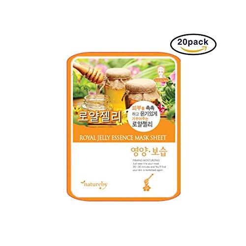 Natureby Tägliche Gelée Royale Essenz Hautmaske Packung mit 20 Blatt -