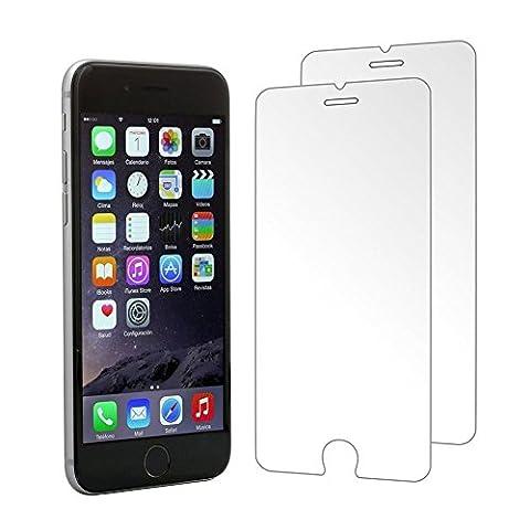 [2 Stück] CÄSAR-GLAS Panzerglas Schutzglas für Apple iPhone 6 / 6S / 7, Anti-Kratzen, Anti-Öl, Anti-Bläschen, 9H Echt Glas Panzerfolie (Glas Iphone)