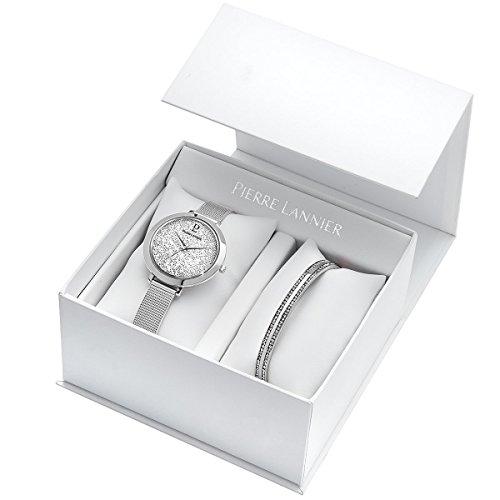 Pierre Lannier Femme Date Standard Quartz Montre avec Bracelet en Acier Inoxydable 391B608