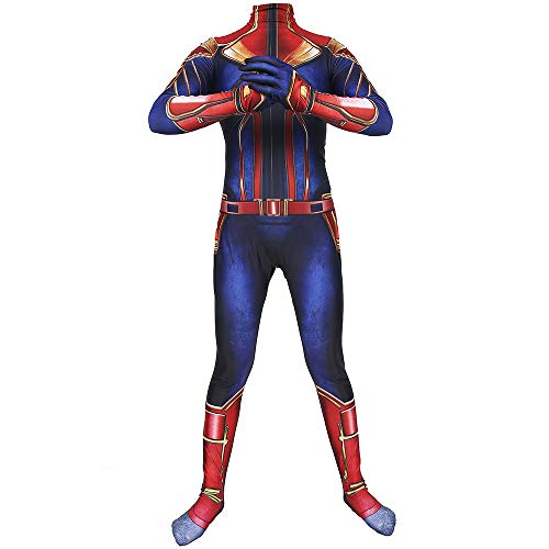 Spandex Schwarze Anzug Kostüm Ganzkörper - WERTYUH Erwachsene Kinder Captain Halloween Kostüm Kostüm Cosplay Party Ganzkörper Halloween Cosplay Anzug,Kids-XS