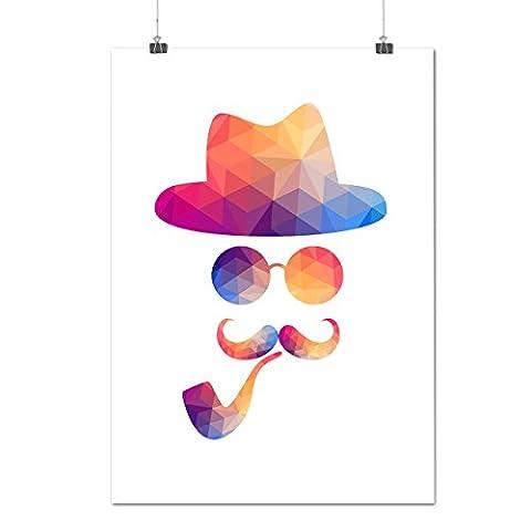 Mystère homme Tête Branché style Matte/Glacé Affiche A4 (30cm x