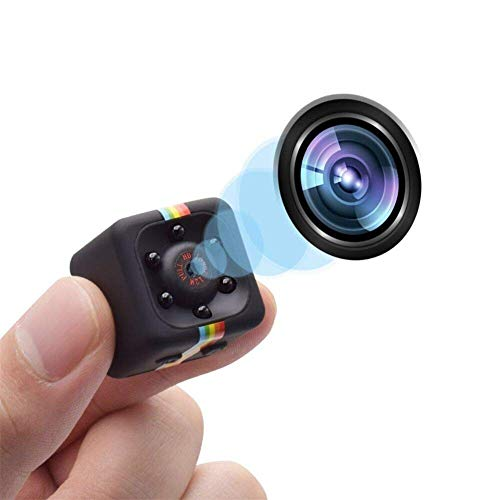 QLPP 1080P Mini Spy Hidden Camera, kleinste kabellose Action-Kamera für Körperkameras, Nanny-Überwachungskamera mit Nachtsicht und Bewegungserkennung, integrierter Akku,A (Hidden Cam)