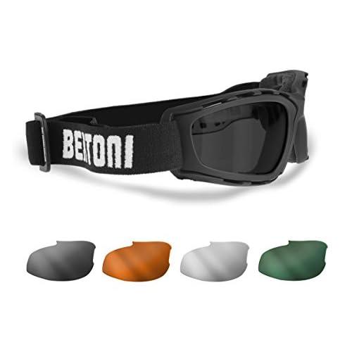 Masque moto Bertoni AF120b Noir 6