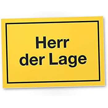 herr der lage schild mit spruch t rschild lustige. Black Bedroom Furniture Sets. Home Design Ideas