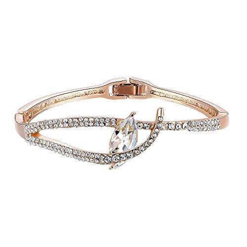 Oven Moda® Frauen Diamant Armreif Armband Rose Gold Plated Damen Schmuck für Mutter Geschenk,Weihnachtstag