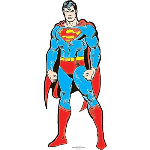 DC Comics Superman DC Karte Board Cut Out, Karton, Mehrfarbig, 92 x 38 x 92 cm