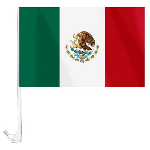 NFP 1 x Autofahne Autoflagge 45 x 30 Mexiko Fahne Fahnen Flagge Flaggen WM 2014 mit Halterung