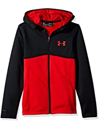 0b7341f066fa8 Amazon.es  Sudadera Roja Con Capucha - Under Armour   Niño  Ropa