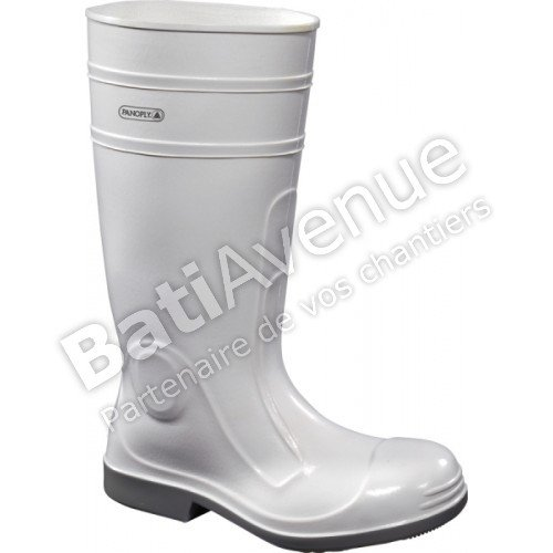 Panoply Viens2 Heavy Duty White PVC Safety Wellingtons Boots Welly Wellies For Food Industry With Steel Toe Caps