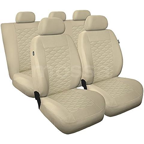 (MD-9) Universal Fundas de asientos compatible con MITSUBISHI (CARISMA, GALANT, LANCER, OUTLANDER, SPACE RUNNER, SPACE STAR)