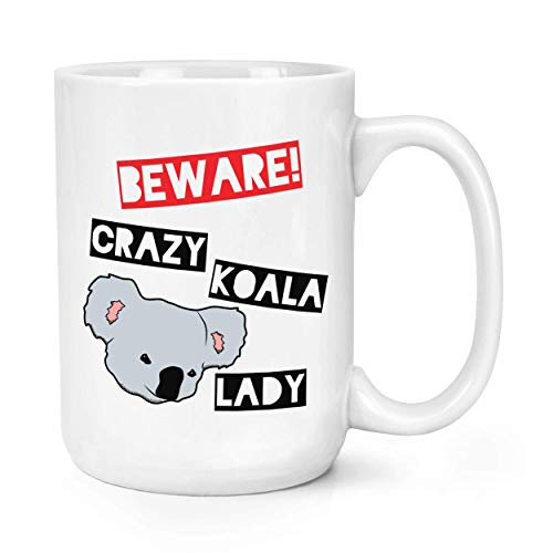 Attention Crazy Koala Lady 15oz Large Tasse