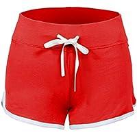 Swiss Well – Pantalones cortos de deporte para Corto Pantalones Algodón  Yoga bailar Pantalones Cortos atletismo 8839337a767c