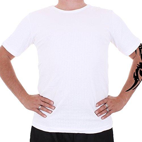 Herren Thermo Unterhemd kurzarm Nr. 376 Weiß