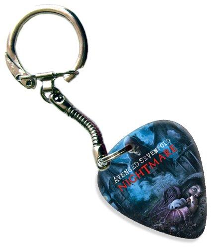 Avenged Sevenfold Nightmare Chitarra Pick Plettri Portachiavi Keyring