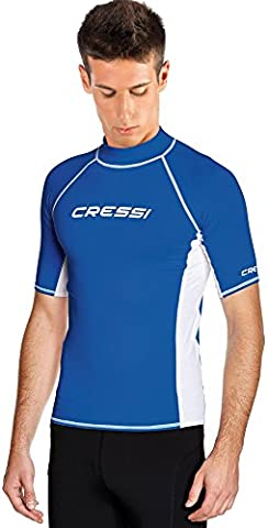 Cressi Men's Rash Guard, Blue/White, L/4