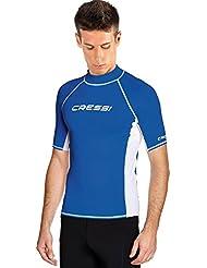 Cressi Rashguard Homme Haute de combinaison en tissu très élastique spéciale Manches Courtes Protection Solaire UV (UPF) 50+