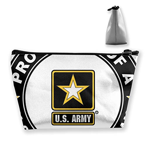 US Army Veteran Stolz Cousin Aufkleber Tixing Trapez Reise Make-Up Tasche Kosmetiktaschen 7x12x22 CM