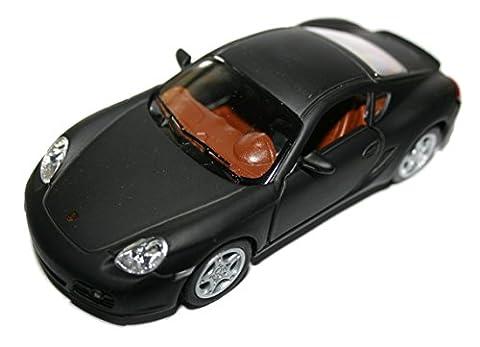 Porsche Diecast Modell Auto Cayman S Öffnungstüren 1:34 Maßstab (Schwarz)
