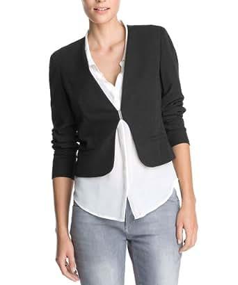 ESPRIT Collection Damen Blazer Q23050, Gr. 34 (XS), Schwarz (001 Black)