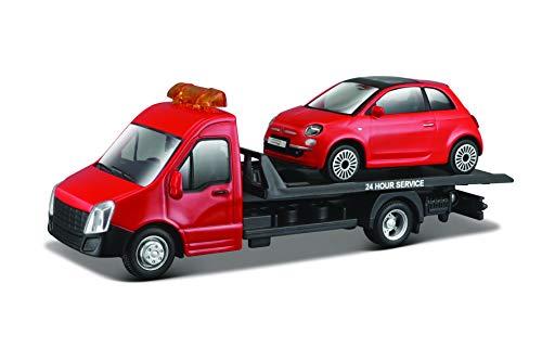 Bburago 15631400 1:43 Abschleppwagen mit 1 Fahrzeug Sortiert