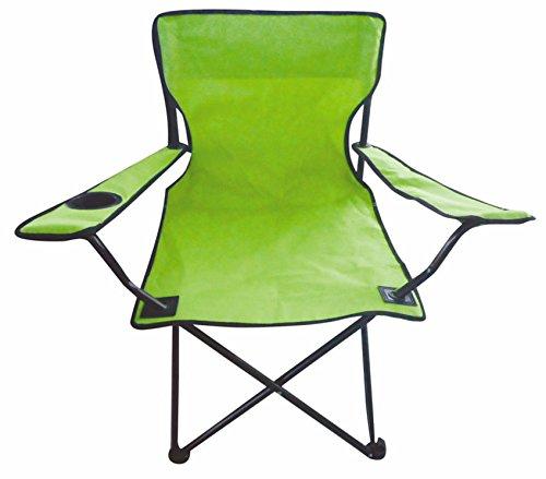 Silla plegable para acampada en 7colores–Camping, Pesca Silla con soporte para bebidas, lime-grün