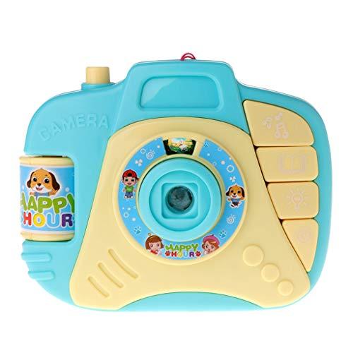 JAGENIE Elektrische Blinkende Projektion Spielzeug Cartoon Kamera Musik Baby Kinder pädagogisches Geschenk blau (Baby-kamera-spielzeug)