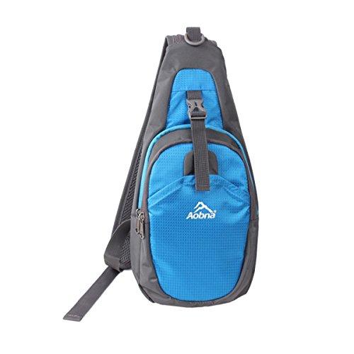 BULAGE Tasche Männer Und Frauen Fahrrad Outdoor Sport Schulranzen Brusttasche Art Und Weise Beiläufig Schulter Rucksäcke Wandern Reisen Blue