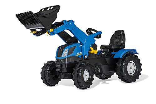 Rolly Toys rollyFarmtrac New Holland (für Kinder von 3-8 Jahre, verstellbarer Sitz, Flüsterlaufreifen, Front- und Heckkupplung) 611256