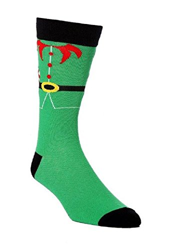 1 Paar Herren- Jokers Neuheit Elf Kostüm Socken 6-11 UK 39-45 EUR Grün (Für 40 Männer Kostüme)