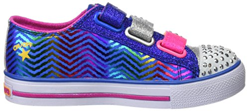 Skechers Step Up, Sneakers Basses Fille Bleu (Ryhp)