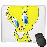 Tweety Zeichnung Cartoon Melodien Zeichnung Tweety Vogel Gesicht Zeichnung Mousepad Rutschfeste Gummi Gaming Mouse Pad Rechteck Mauspads Für Computer Laptop 11,8X9,8 Zoll