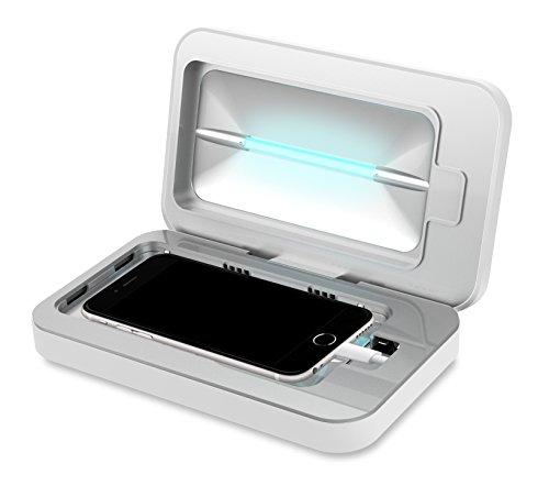 PhoneSoap PS500-1W UV-C Desinfektion Geräte für Smartphones, Weiß (Handheld-uv-lampe)