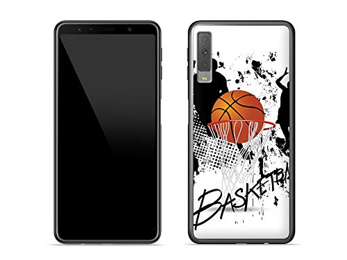 etuo Handyhülle für Samsung Galaxy A7 (2018) - Hülle Fantastic Case - Basketball - Handyhülle Schutzhülle Etui Case Cover Tasche für Handy