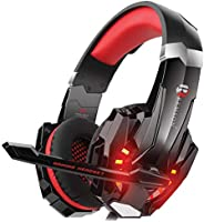 Remson RM-100 Gaming Headset with Noise Cancelling Over Ear Headphones,Mic, LED Light, Bass Surround, Soft Mem