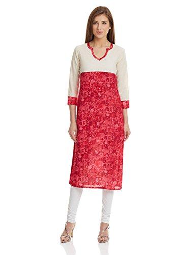 Prakhya Women's Straight Kurta (SW887PINK-XL)