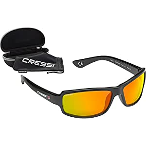 Cressi Ninja Floating, Sunglasses Sport Mens, Polarized Lenses, with Hard Case